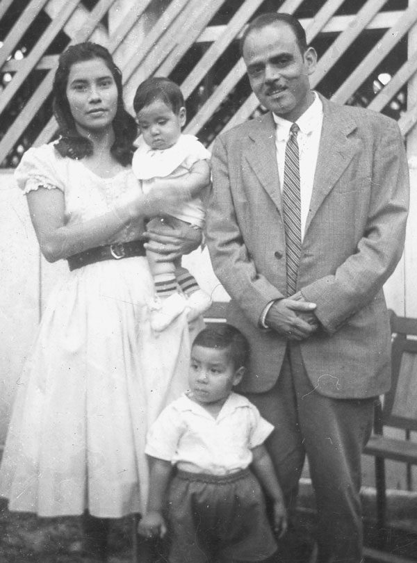 Guillermo Martinez with his wife Linda and two young children.