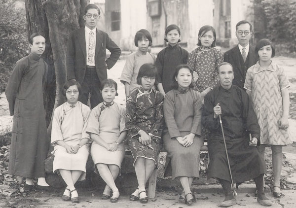 Dr. Y. T. Chiu (seated, front) with staff of the UB school in Canton, China (March 1931).