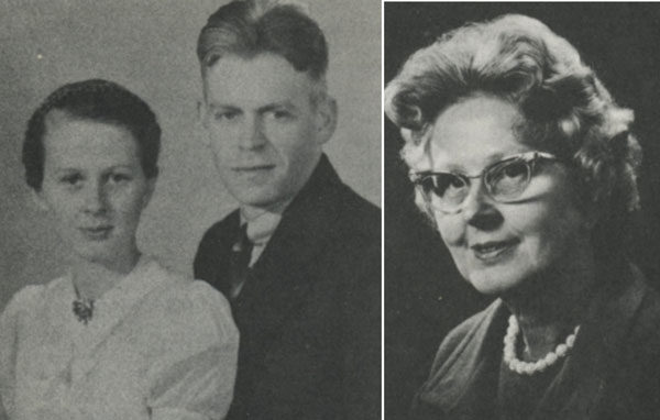 Left: Elen and Noel Bowman in the 1940s. Right: Elen Bowman.