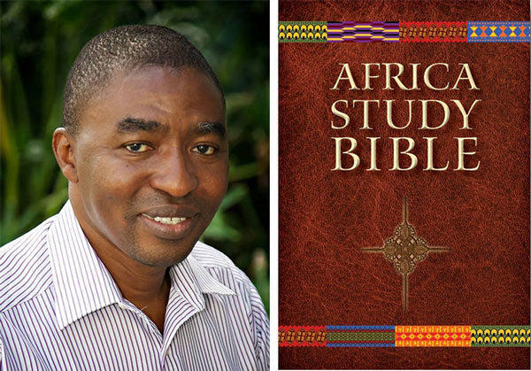 Rev. John Jusu and the Africa Study Bible.