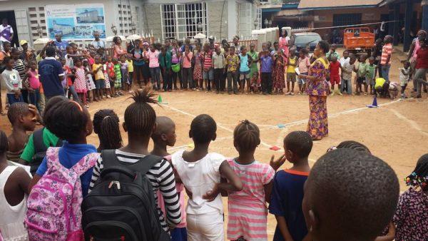 AWANA at the Lumley church in Sierra Leone.