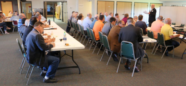 About 55 people attended the regional meeting on May 15 in Sunfield, Mich.