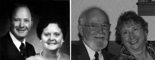 Left: Floyd and Janet Lundy. Right: Floyd and Kathy Lundy.