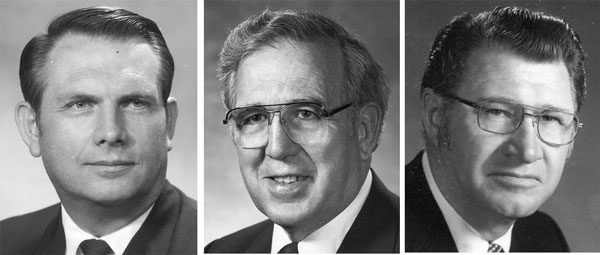 L-r: George Weaver, Duane Reahm, and Raymond Waldfogel.