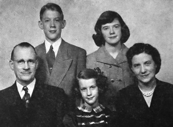 Clarence and Erma Carlson and children.