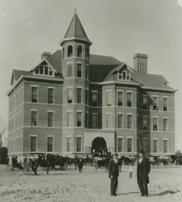 The Administration Building, now Becker Hall, as it looked in 1897.