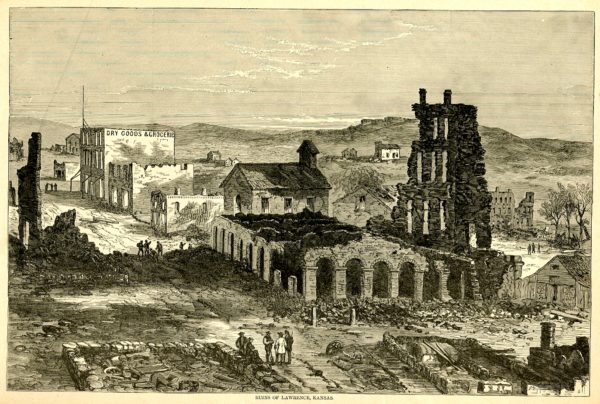 The ruins of Lawrence, Kansas, after the raid.