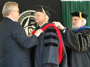 Roger Skinner receives honorary degree from Huntington University